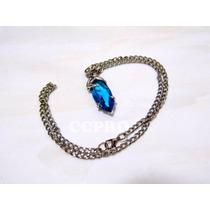 Collar Final Fantasy X Yuna Cristal Azul Magico