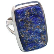 Lapis Lazuli, Lapislázuli 925 Plata Ring 6.25