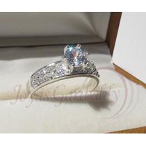 Anillos De Compromiso Plata Corte Diamante Con Zirconias