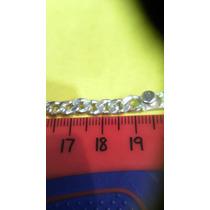 Plata .925 Pulso Cubana Planchada 19cms $1300.00 Maciza