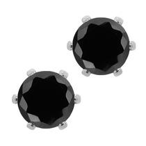 Aretes Bañados En Plata Con Circonita (cz) Cúbica De 6mm