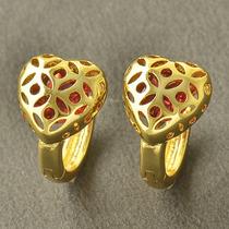 Aretes Oro Laminado 10k 11mm De Diámetro 2.8 Gramos
