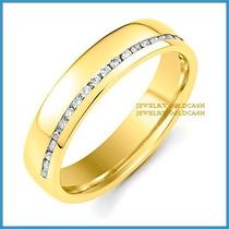 Argollas De Matrimonio Mod. Diana En Oro Amarillo 10k Solido