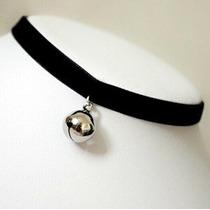 Collar Cosplay Negro Lolita Campana Gargantilla Gótica Del G