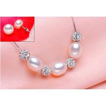 Perlas Naturales Collar Hermoso Set+regalos!!!