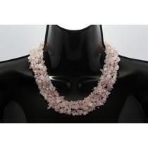 Collar De Piedra Corto Cuarzo Rosa Ccpn143
