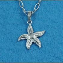 Dije Estrella De Mar Plata Fina Ley.925