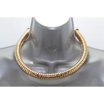 Collar Moda Dorado Estilo Gargantilla En Espiral