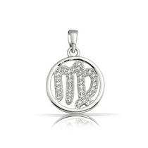 Pendiente Bling Jewelry Zodiaco Virgo Pequeñas Piedras Este