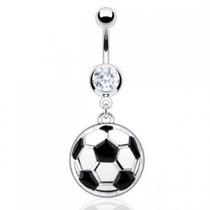 Piercing En El Ombligo Diseño Balon De Futbol