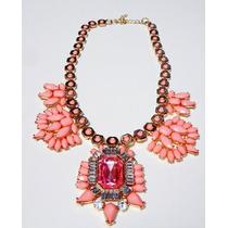 Collar De Cristal Coral Nuevo. Precios De Mayoreo
