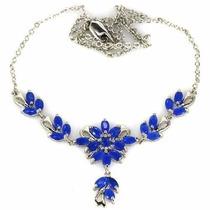 Collar De Zafiro Azul Natural