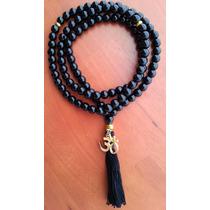 Rosario Budista Tibetano * Agata Negra * Om Chapeado
