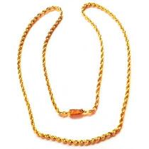 Cadena Torzal De Oro Macizo 14k 56cm. Y 13grs. Solid Gold