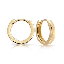 Bling Jewelry De Oro Chapado De Plata Del Aro De Huggie Pend
