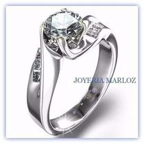 Anillo Compromiso Diamante Ruso 14kt Estuche Y Envio Gratis