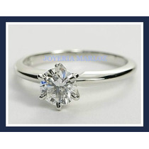 Anillo De Platino Con Diamante Natural .51ct Certificado Ags