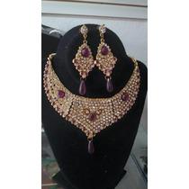 Collar Hindu Con Aretes Original India Exotico Barato Indu
