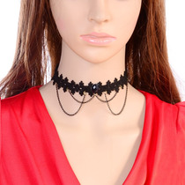Collar Gargantilla Gotico Halloween Disfraz Dark Fiesta Antr