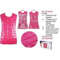 Vestido Organizador De Joyería Color Rosa, Largo 77cm.