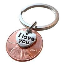 Te Amo Corazón Charm Capas Durante 2013 Llavero Penny Segund