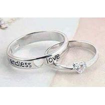 Par De Argollas De Matrimonio Endless Love De Plata .925!!