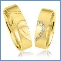 Argollas De Matrimonio Mod. Hope En Oro Amarillo 14k Solido