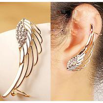 Arete Moda, Piercing Sin Perforación, Ear Cuff Ala De Angel