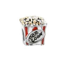 Charm Dije Pandora Style Pop Corn Esmalte