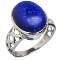 Lapis Lazuli, Lapislázuli 925 Plata Ring 7