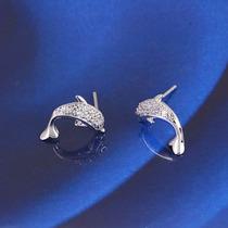 Interesantes Aretes En Diseño De Delfines!