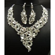Gargantilla Collar Aretes Snake Cristal Austriaco Swarovski