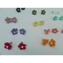 Aretes Crochet Flor