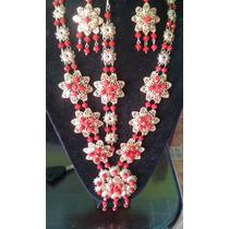 Hermoso Y Elegante Collar Modelo De Novia Cristal Checo # 8