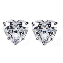 Aretes Broqueles De Oro 10k Macizo Y Hermosos Diamantes Ruso