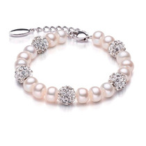 Perlas Reales Con Cristales Swarovski Oooooooooooooooooooooo
