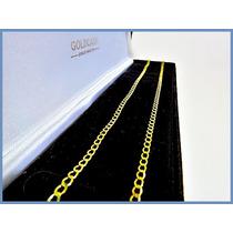 Cadena Oro Amarillo Solido 14k Mod. Bullet De 3mm 5grs Acc