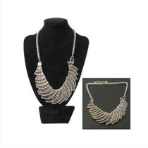 Forma De Cascada Collar De Metal Elegante