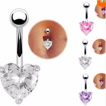 Piercing Ombligo Corazon Con Elements Super Oferta