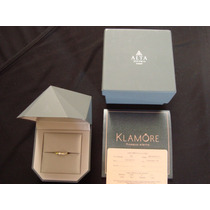 Anillo Solitario Klamore Oro 14k Diamante 10 Pts