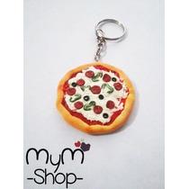 Pizza Llavero O Collar Accesorios Comida Miniatura Kawaii Dc