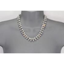 Conjunto Elegante Perlas Plata Y Aretes Ce63