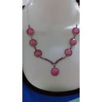 Set De Collar Y Pulsera Turca En Plata Con Cristales