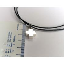 Dije De Cruz Suiza En Plata 925 Collar Cordón Ajustable Mn4