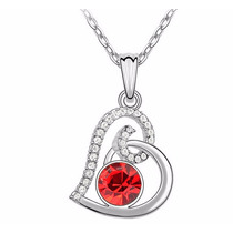 Collar Lovely Heart Hecho Con Cristales Swarovski® Elements