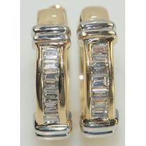 Aretes Con Diamantes Oro 14k