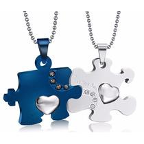 Collares Para Novios Rompecabezas Moderno Blue Amor Amigos