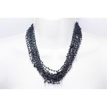Collar De Piedra Tela Amatista Ccpn160