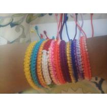 Lote De 50 Pulseras De Moda Tejidas En Varios Colores