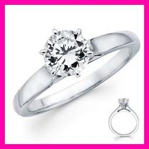 Anillos De Compromiso 14kt De .35ct De Diamante Natural